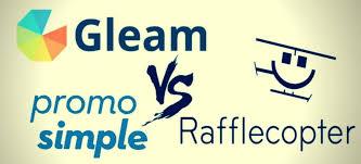 gleam vs rafflecopter vs promosimple giveaways free