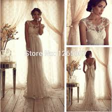 wedding dress lace back and sleeves com buy fashion boat neck lace cap sleeves open back bow a