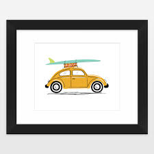 surf car clipart my surf car vw beetle placemat by lucylovespaper on boomboomprints