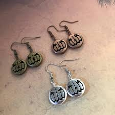 halloween costume earrings pumpkin earrings jack o lantern earring