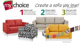 Fabric Sofas Perth Mychoice Australian Made Sofa Range Fantastic Furniture