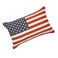 Reverse Color American Flag Flag Tapestry Decorative Pillow