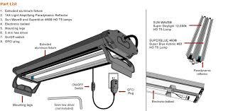 24 aquarium light bulb amazon com wavepoint 24 inch 48 watt 2 bulb high output t 5