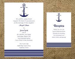 nautical themed wedding invitations navy anchor stripes nautical cruise destination wedding