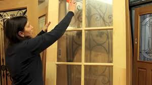 french door glass insert replacement royal door limited removing plastic from glass panes youtube