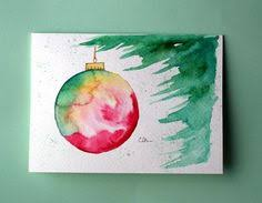 christmas cards in watercolor watercolor card no 214 christmas ornament greeting card