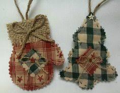 homespun ornaments pair ornament ornament