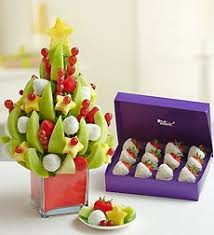 christmas tree with 12 coconut chocolate covered strawberries