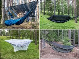spending a night in a hammock in every season u2013 finland naturally