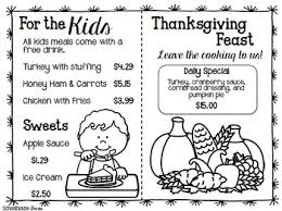 thanksgiving math worksheets and centers by schoolhouse tpt