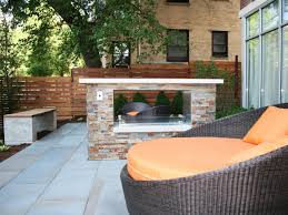 modern outdoor fireplace ideas hgtv
