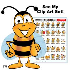 bumble bee mascot clip art bundle