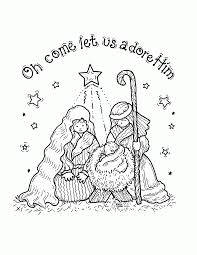 printable coloring pages nativity scenes