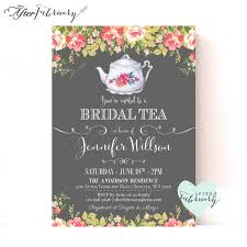 bridal shower tea party invitations bridal shower tea party