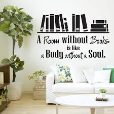 Bedroom Wall Stickers Sayings A Room Without Books Quote Library Wall Sticker Decal Vinyl Wall