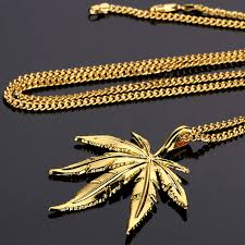 aliexpress buy nyuk new fashion american style gold nyuk new trendy silver hemp leaf pendant necklace men women charm