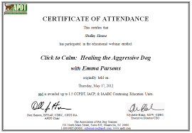 training attendance certificate template 5 certificate of