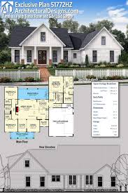 plan 51772hz exclusive farmhouse with bonus room and side load garage