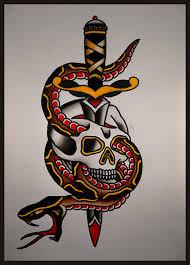 flash skull and snake on behance