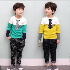 fashion boys casual sets 2016 autumn children sleeve