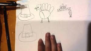 thanksgiving items how to draw thanksgiving items turkey pilgrim hat native
