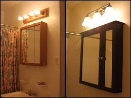 bathroom amazing lighting over surface mounted medicine cabinet