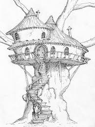 image result for how to draw a tree house drawing tips