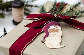 grant painted santa gift tag ornament more than