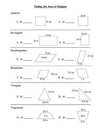 area of polygon worksheet free worksheets library download and