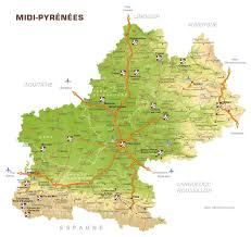 Tgv Map France by Map Of The Midi Pyrenees Departement Of France 1200 1135