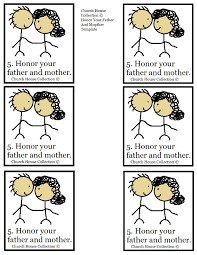 ten commandment coloring pages honor thy father and mother snack