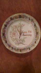 wedding anniversary plates collectible plates and clocks wedding and anniversary gifty gold