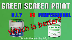 green screen paint diy vs professional which one for your