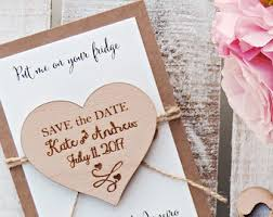 magnetic save the dates wedding save the dates etsy