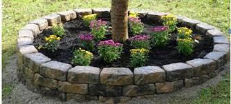 Mailbox Flower Bed Do It Yourself Stone Raised Flower Bed