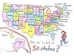 All Fifty States 50 States Checklist Have You Visted All 50 States