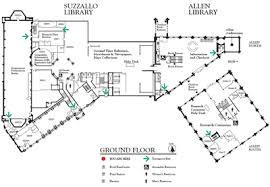map of allen suzzallo and allen ground floor map uw libraries