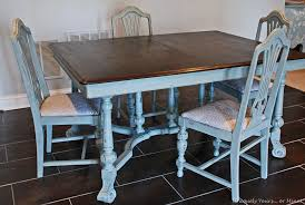 Teal Dining Table Vintage Dining Table Refinishing Tutorial