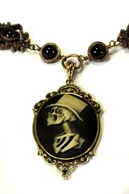 gothic steampunk necklace images Steampunk necklace top hat skeleton gentleman by jpg