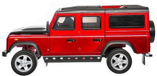 red land rover defender kids land rover defender sport 12v electric battery ride on car