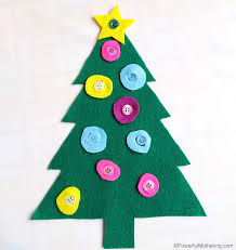 fine motor button tree christmas busy bags