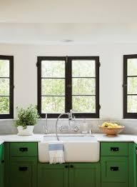 white kitchen cabinets with window trim black window trim modernize