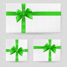 green gift bow gift box with a green ribbon and bow royalty free vector clip