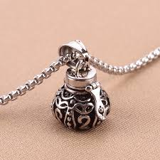urn pendants tibetan openable 316l stainless steel memorial vintage jewerly
