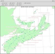 Nova Scotia Canada Map by Novaweather
