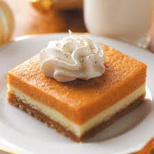 pumpkin dessert bars recipe taste of home