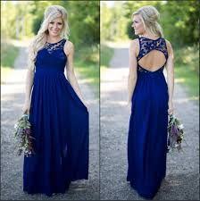 cobalt blue bridesmaid dresses 2017 midnight blue bridesmaid dresses lace top chiffon open back a