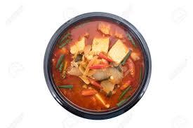 cuisine fond blanc kimchi ragoût kimchi chigae la cuisine coréenne kimchi soupe