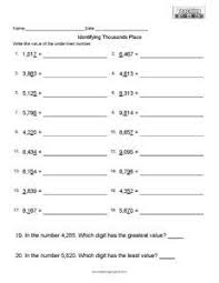 place value to tens free math worksheet teaching squared