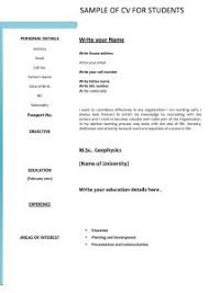 Part Time Job Resume Template by Free Resume Templates Example Of Perfect Application